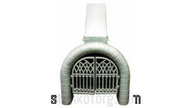 Камин с дымоходом 9069-5980