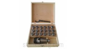 Патрон цанговый 7:24 ISO50 с набором цанг ER40 - 23 шт.