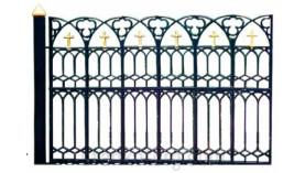 Решетка забора для церквей  720х345, масса 14 кг., черт. 9069-6106 (верхняя часть)