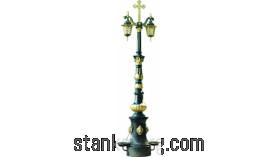 Светильник уличный двухрожковый с фонтанчиком
