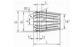 Цанга ER25 - 15 мм
