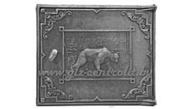 Дверка чугунная топочная с медведем