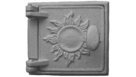 Дверка чугунная топочная с солнышком