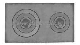 Плита чугунная двухконфорочная П-2-5